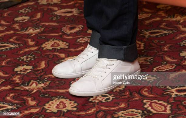 Actor Brian Tyree Henry shoe detail attends the 'Lobby Hero' cast meet and greet at Sardi's on February 16 2018 in New York City