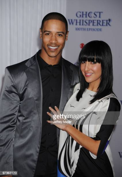 Actor Brian White and Paula Da Silva arrives to the Ghost Whisperer 100th Episode Celebration at XIV on March 1 2010 in West Hollywood California