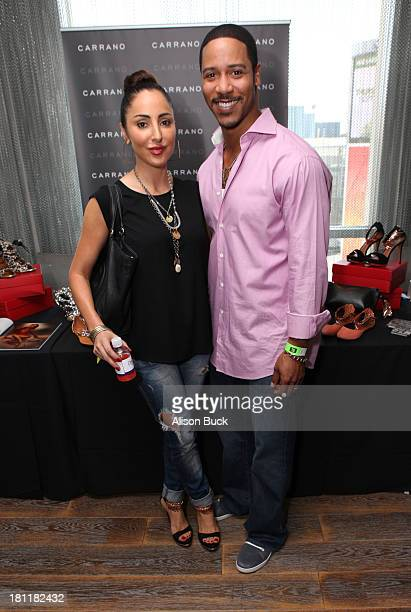 Actor Brian White and Paula Da Silva attend Kari Feinstein's PreEmmy Style Lounge at the Andaz Hotel on September 19 2013 in Los Angeles California