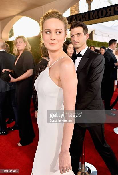 Actor Brie Larson and musician Alex Greenwald attend The 23rd Annual Screen Actors Guild Awards at The Shrine Auditorium on January 29 2017 in Los...