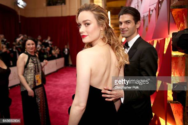 Actor Brie Larson and musician Alex Greenwald attend the 89th Annual Academy Awards at Hollywood Highland Center on February 26 2017 in Hollywood...