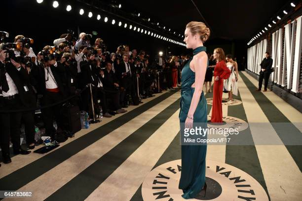 Actor Brie Larson attends the 2017 Vanity Fair Oscar Party hosted by Graydon Carter at Wallis Annenberg Center for the Performing Arts on February...