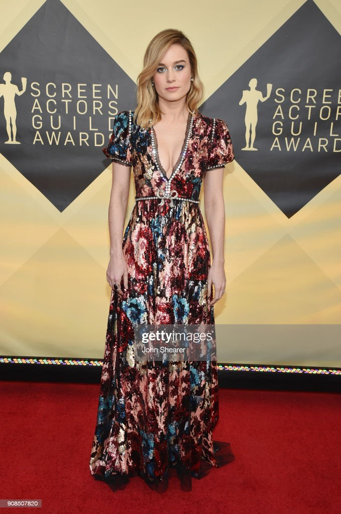 Actor Brie Larson attends the 24th Annual Screen Actors Guild Awards at The Shrine Auditorium on January 21, 2018 in Los Angeles, California.