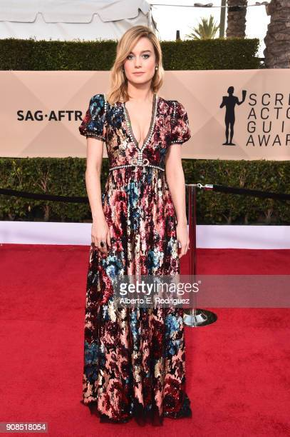 Actor Brie Larson attends the 24th Annual Screen Actors Guild Awards at The Shrine Auditorium on January 21 2018 in Los Angeles California 27522_006