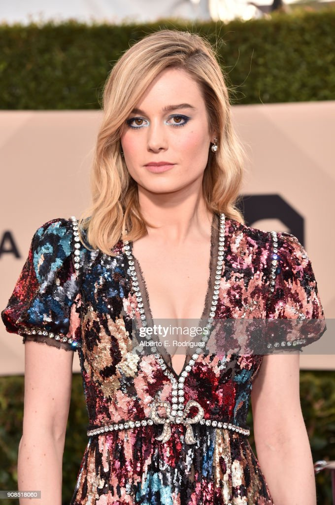 Actor Brie Larson attends the 24th Annual Screen Actors Guild Awards at The Shrine Auditorium on January 21, 2018 in Los Angeles, California. 27522_006