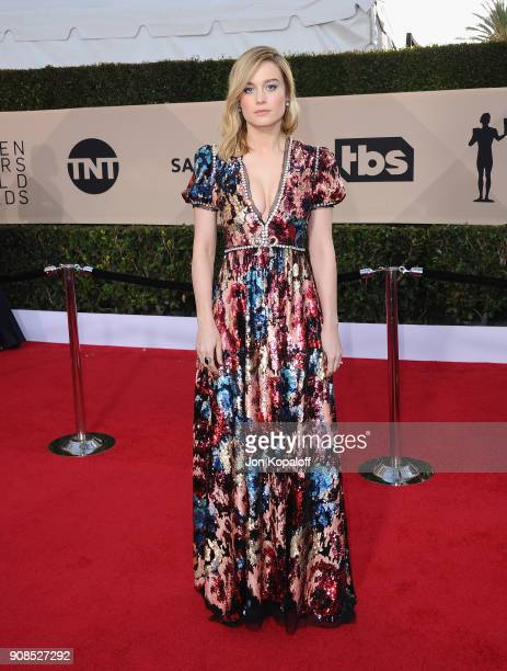 Actor Brie Larson attends the 24th Annual Screen ActorsGuild Awards at The Shrine Auditorium on January 21 2018 in Los Angeles California