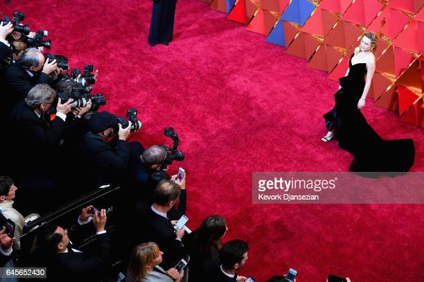 Actor Brie Larson attends the 89th Annual Academy Awards at Hollywood Highland Center on February 26 2017 in Hollywood California