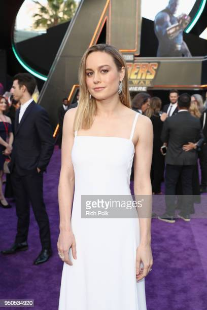Actor Brie Larson attends the Los Angeles Global Premiere for Marvel Studios' Avengers Infinity War on April 23 2018 in Hollywood California