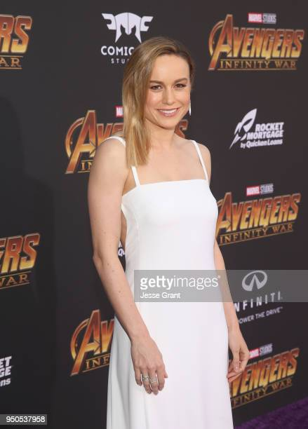 Actor Brie Larson attends the Los Angeles Global Premiere for Marvel Studios' Avengers: Infinity War on April 23, 2018 in Hollywood, California.