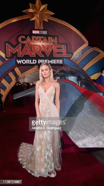 Actor Brie Larson attends the Los Angeles World Premiere of Marvel Studios' Captain Marvel at Dolby Theatre on March 4 2019 in Hollywood California
