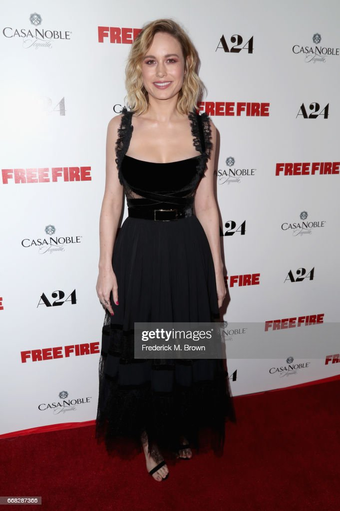 Actor Brie Larson attends the premiere of A24's 'Free Fire' at ArcLight Hollywood on April 13, 2017 in Hollywood, California.