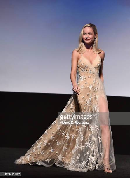 Actor Brie Larson onstage during the Los Angeles World Premiere of Marvel Studios' Captain Marvel at Dolby Theatre on March 4 2019 in Hollywood...