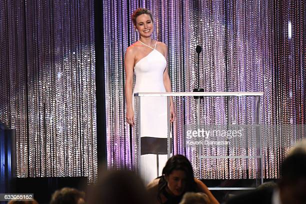 Actor Brie Larson speaks onstage during the 23rd Annual Screen Actors Guild Awards at The Shrine Expo Hall on January 29 2017 in Los Angeles...
