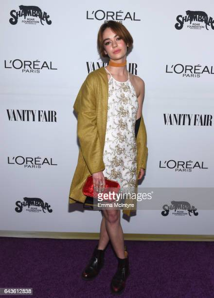 Actor Brigette LundyPaine attends Vanity Fair and L'Oreal Paris Toast to Young Hollywood hosted by Dakota Johnson and Krista Smith at Delilah on...