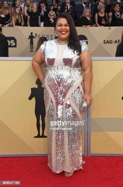 Actor Britney Young attends the 24th Annual Screen Actors Guild Awards at The Shrine Auditorium on January 21 2018 in Los Angeles California