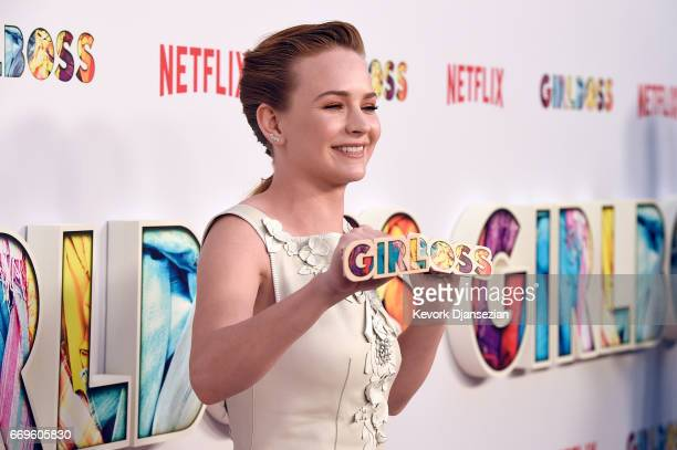 Actor Britt Robertson attends the premiere of Netflix's Girlboss at ArcLight Cinemas on April 17 2017 in Hollywood California