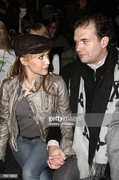 Actor Brittany Murphy and Simon Monjack attend the Diesel Fall 2008 fashion show during MercedesBenz Fashion Week Fall 2008 at The Tent at Bryant...