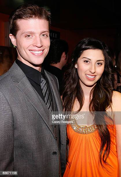 Actor Brock Vincent Kelly and actress/writer/director AnneSophie Dutoit arrive at the premiere of Faded Memories on November 12 2008 in Universal...
