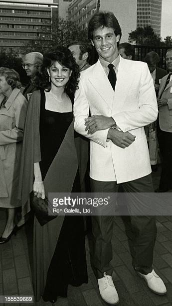 Actor Brodie Greer and date attend NBC TV Affiliates Party on May 16 1983 at La Brea Tar Pits Museum in Los Angeles California