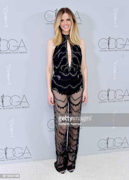 Actor Brooklyn Decker attends the Costume Designers Guild Awards at The Beverly Hilton Hotel on February 20 2018 in Beverly Hills California