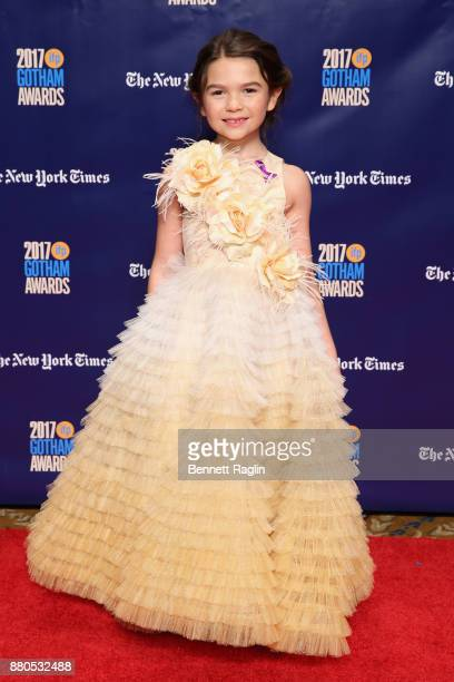 Actor Brooklynn Prince attends the 2017 Gotham Awards sponsored by Greater Ft Lauderdale Tourism at Cipriani Wall Street on November 27 2017 in New...
