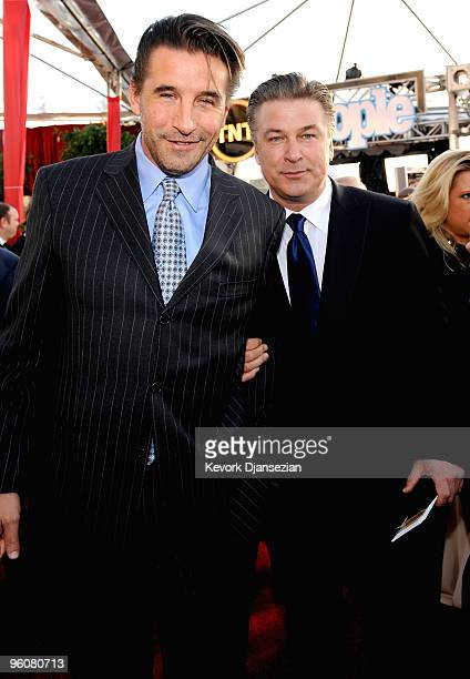 Actor brothers William Baldwin and Alec Baldwin arrive at the 16th Annual Screen Actors Guild Awards held at the Shrine Auditorium on January 23 2010...
