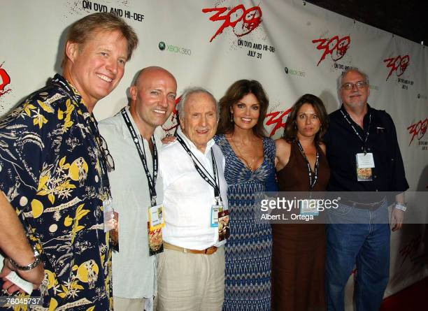 Actor Bruce Boxleitner actor Peter Woodward producer Dougls Netter actress Tracy Scoggins guest and creator J Michael Straczynski of babylon 5 attend...