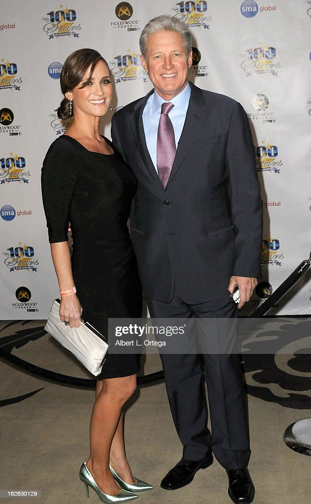 Actor Bruce Boxleitner and Verena King arrive for the 23rd Annual Night Of 100 Stars Black Tie Dinner Viewing Gala held at Beverly Hills Hotel on February 24, 2013 in Beverly Hills, California.