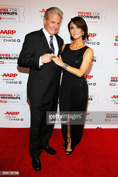 Actor Bruce Boxleitner and Verena King attend AARP's 15th Annual Movies For Grownups Awards at the Beverly Wilshire Four Seasons Hotel on February 8...