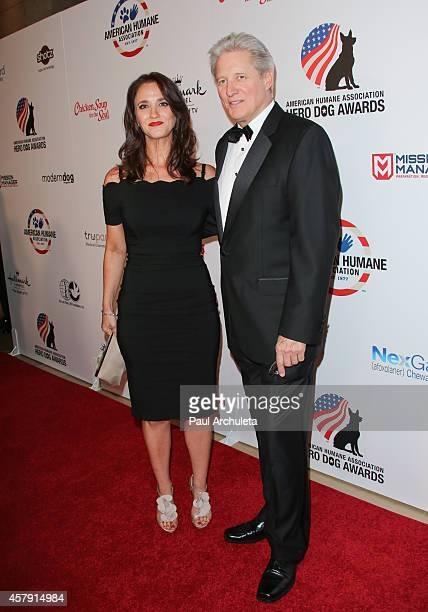 Actor Bruce Boxleitner and Verena King attend the 4th annual American Humane Association Hero Dog Awards at The Beverly Hilton Hotel on September 27...