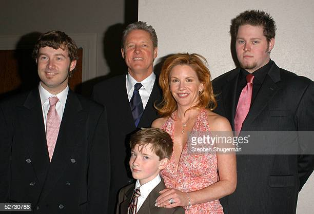 Actor Bruce Boxleitner his wife actress/SAG President Melissa Gilbert and their sons Sam Lee and Michael pose for a photograph at the 84th Annual...