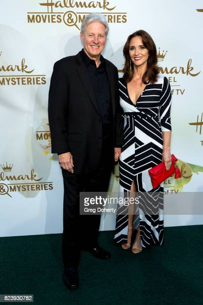 Actor Bruce Boxleitnerr and wife Verena KingBoxleitner arrive for the 2017 Summer TCA Tour Hallmark Channel And Hallmark Movies And Mysteries on July...