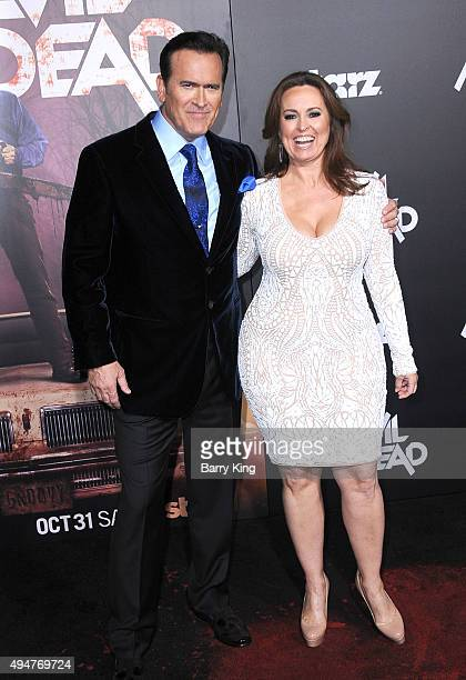Actor Bruce Campbell and his wife Ida Gearon arrive at the Premiere of STARZ's 'Ash vs Evil Dead' at TCL Chinese Theatre on October 28 2015 in...