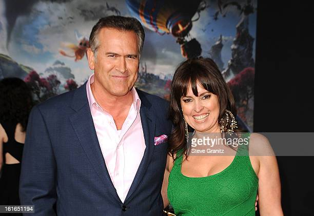 Actor Bruce Campbell and Ida Gearon attend the world premiere of Disney's OZ The Great And Powerful at the El Capitan Theatre on February 13 2013 in...