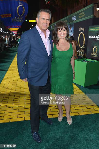 Actor Bruce Campbell and Ida Gearon attend Walt Disney Pictures World Premiere of Oz The Great And Powerful Red Carpet at the El Capitan Theatre on...