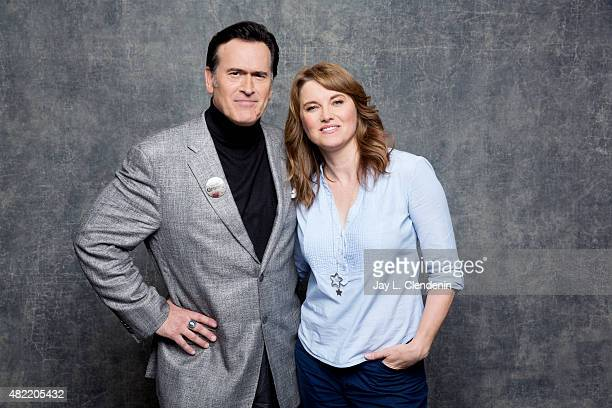 Actor Bruce Campbell and Lucy Lawless of 'Ash vs Evil Dead' pose for a portrait at Comic-Con International 2015 for Los Angeles Times on July 9, 2015...