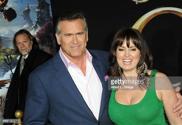 Actor Bruce Campbell and wife Ida Gearon arrive for The Premiere Of Walt Disney Pictures' Oz The Great And Powerful held at The El Capitan Theater on...
