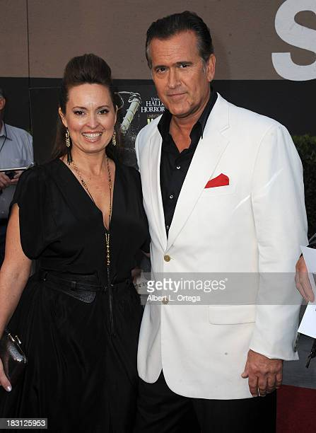 Actor Bruce Campbell and wife/costume designer Ida Gearon attend Universal Studios Hollywood Celebration for Halloween Horror Nights With The Eyegore...