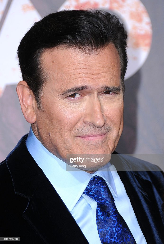 Actor Bruce Campbell arrives at the Premiere of STARZ's 'Ash vs Evil Dead' at TCL Chinese Theatre on October 28, 2015 in Hollywood, California.