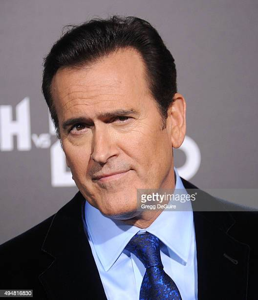 "Actor Bruce Campbell arrives at the premiere of STARZ's ""Ash Vs Evil Dead"" at TCL Chinese Theatre on October 28, 2015 in Hollywood, California."