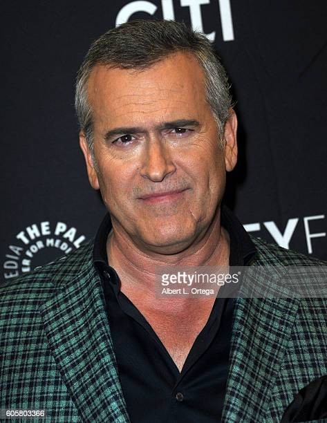 "Actor Bruce Campbell at the The Paley Center For Media's PaleyFest 2016 Fall TV Preview - STARZ's ""Ash Vs. Evil Dead"" held at The Paley Center for..."