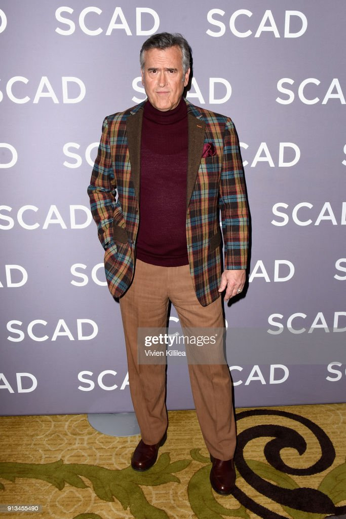 Actor Bruce Campbell attends a press junket for 'Ash vs Evil Dead'' on Day 2 of the SCAD aTVfest 2018 on February 2, 2018 in Atlanta, Georgia.