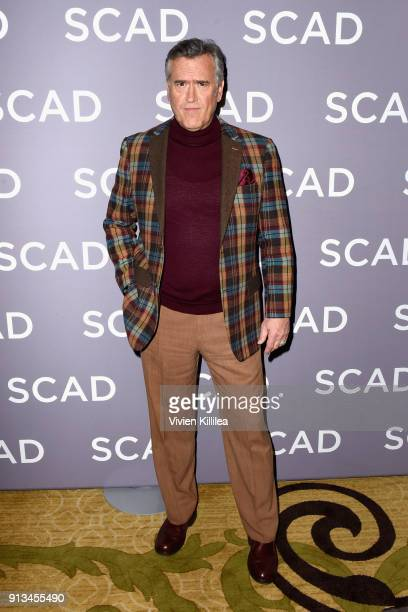 Actor Bruce Campbell attends a press junket for 'Ash vs Evil Dead'' on Day 2 of the SCAD aTVfest 2018 on February 2 2018 in Atlanta Georgia