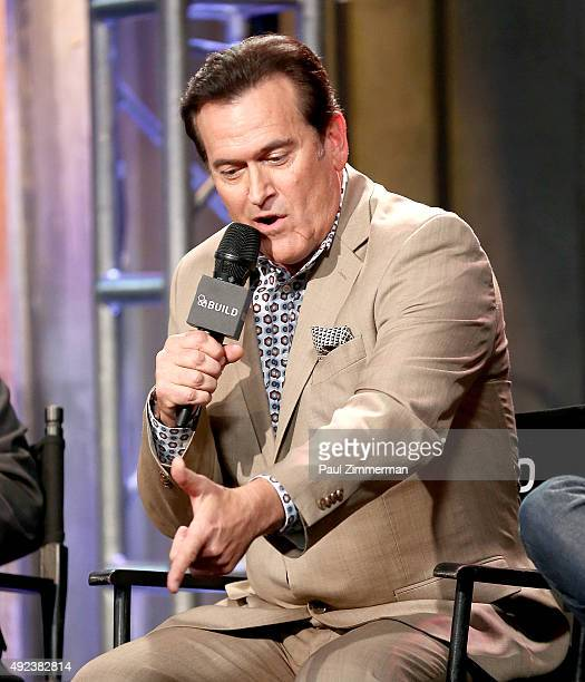 "Actor Bruce Campbell attends AOL BUILD presents ""Ash vs Evil Dead"" at AOL Studios In New York on October 12, 2015 in New York City."