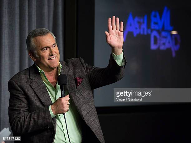 "Actor Bruce Campbell attends SAG-AFTRA Foundation's Conversations with ""Ash Vs. Evil Dead"" at SAG Foundation Actors Center on October 24, 2016 in Los..."