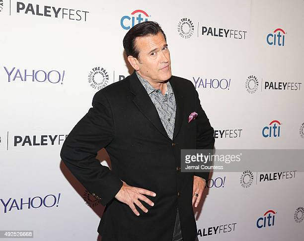 "Actor Bruce Campbell attends the ""Ash Vs Evil Dead"" panal event during the PaleyFest New York 2015 at The Paley Center for Media on October 13, 2015..."