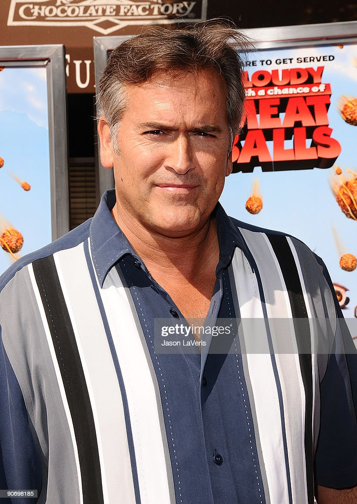 Actor Bruce Campbell attends the premiere of 'Cloudy With A Chance Of Meatballs' at Mann Village Theatre on September 12, 2009 in Westwood, Los Angeles, California.