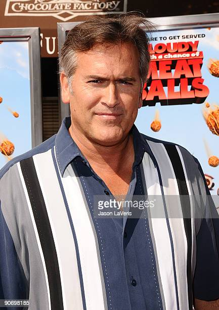 "Actor Bruce Campbell attends the premiere of ""Cloudy With A Chance Of Meatballs"" at Mann Village Theatre on September 12, 2009 in Westwood, Los..."