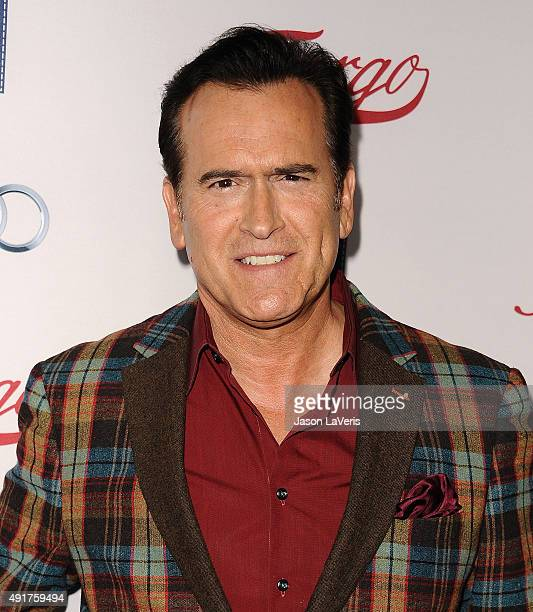 "Actor Bruce Campbell attends the premiere of FX's ""Fargo"" season 2 at ArcLight Cinemas on October 7, 2015 in Hollywood, California."