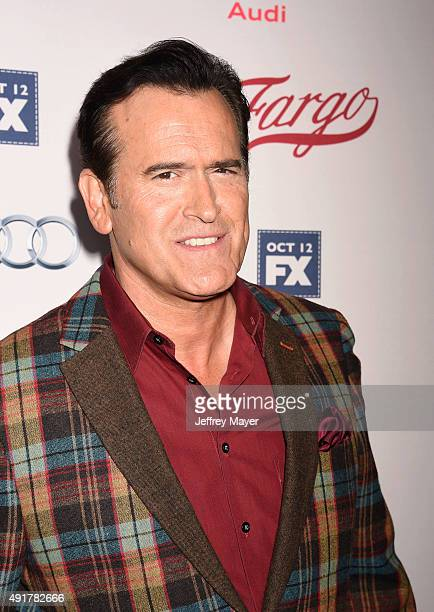 Actor Bruce Campbell attends the premiere of FX's 'Fargo' Season 2 held at ArcLight Cinemas on October 7, 2015 in Hollywood, California.